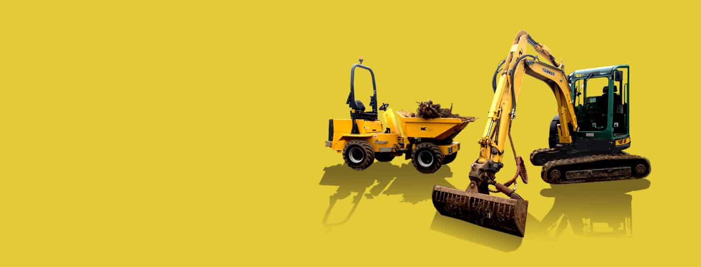 Industrial - Site Dumpers and Mini Excavators Equipment Hire