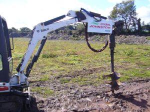 Hydraulic Digger Post Borer