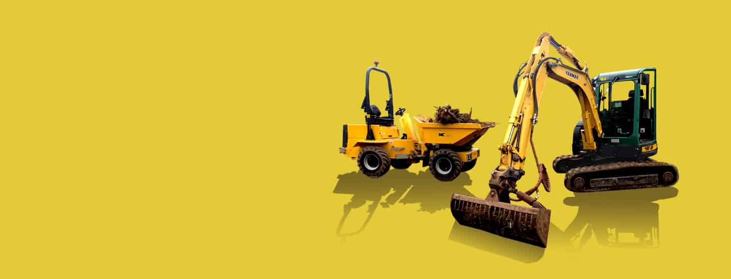 Industrial - Site Dumpers and Mini Excavators Equipment Hire