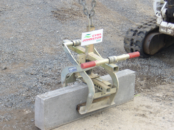 Digger Mounted Kerb Lifter